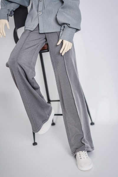 BJD doll clothes crystal hemp thread droop feeling wide-leg pants grey and white 1/4 1/3 MSD SSDF Uncle doll accessories