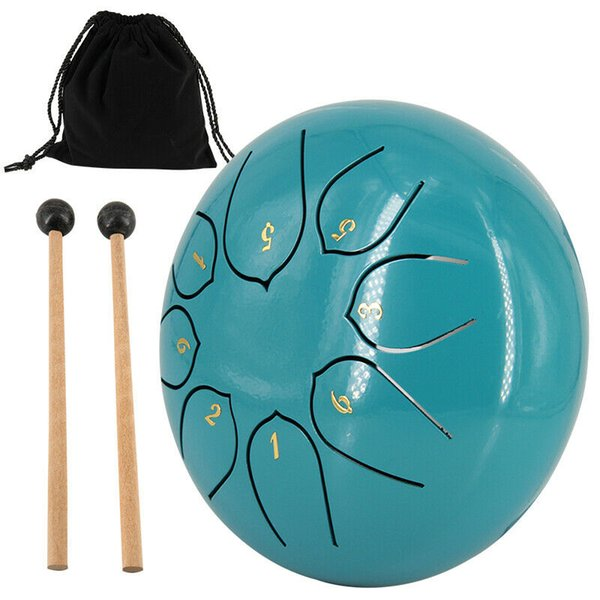 top popular 6'' Steel Tongue Drum 8 Notes Handpan G Tune Tankdrum Yoga Instrument With Bag 2021