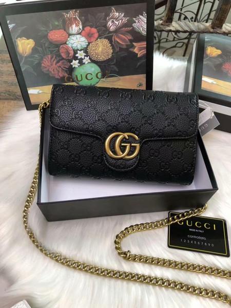 2020 Новая мода сумки овчины Caviar Металлические цепи Золото Серебро сумка кожи высокого качества сумка Флип Диагональ плеча Bag02