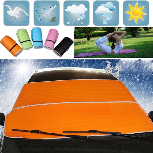 차 트럭 밴 SUV의 앞 유리 눈 썬 커버 방수포 아이스 스크레이퍼 프로스트 먼지 제거 일 그늘 보호 타프 플랩 자석