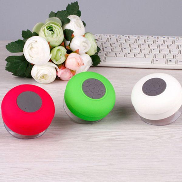 best selling Bluetooth Speaker Waterproof Wireless Shower Handsfree Mic Suction Chuck Speaker Car Speaker Portable mini MP3 Super Bass Call Receive