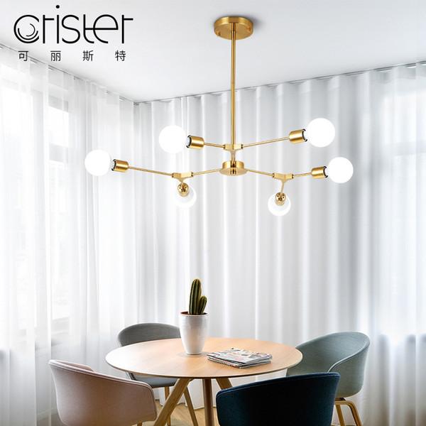 Illuminazione a lampadario a LED postmoderna soggiorno lampade a sospensione a sospensione apparecchi per la casa lampada da camera nordica illuminazione a sospensione con sfera di vetro