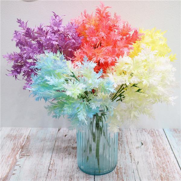 DHL Lieferung brillante Artificial Cedar Blossom anzeigen Blume Länge 41cm hoch Imitation Blumenstrauß für Garten-Ausgangs Hochzeit dekorative Blumen