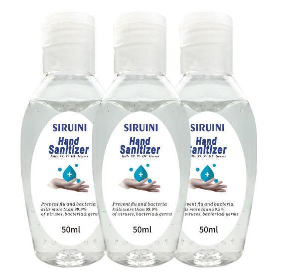best selling SIRUINI Hand Sanitizer 50ml Disposable Gel Hand Sanitizer Travel Mini Wash Free Hands Sanitizer Home Office Hand Soaps GGA3270