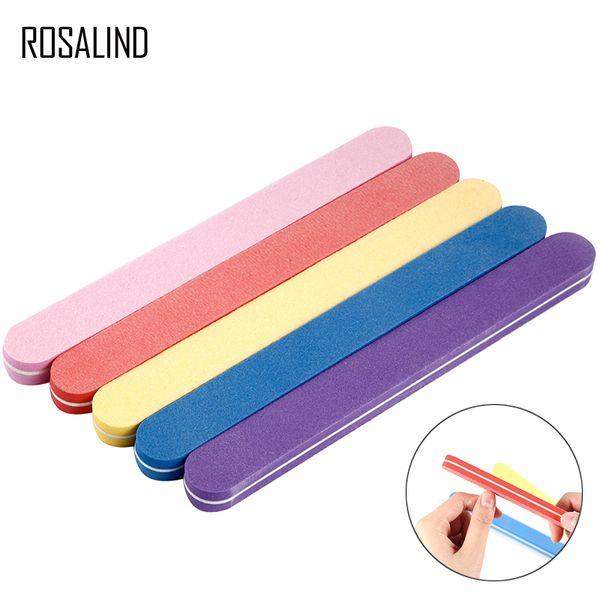 ROSALIND 1PCS Nail Buffer For Nails File Professionals Polishing For Nail Polisher Block Tools Sponge For Manicure Pedicure Art