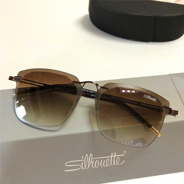 d02a010b972 Ultralight fashion designer sunglasses silhouette 6201 frameless square  simple frame light and unburdened uv400 protection glasses