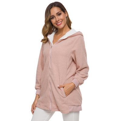 Winter Women Jackets Coat Ladies Warm Coat Jumper Cardigans Women Solid Coat Hoodie Outwear manteau Femme Plus size 5XL Li112