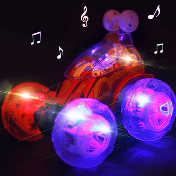 Ballando 360 gradi Flip Stunt Tumbling RC Car Musica Bambini Turbo USB ricaricabile Elettrico luce lampeggiante Robot regalo di deformazione