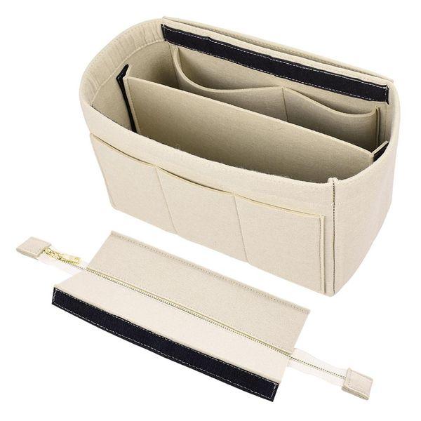 New Bag Organizer Insert Handbag Makeup Bag Felt Cloth Travel Cosmetic Makeup Tote Toiletry Travel Organizer Storage Bags