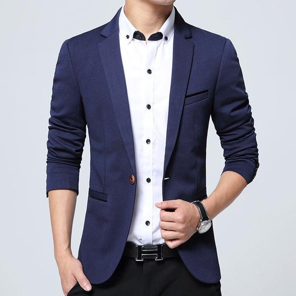Moda Uomo Giacca Casual Abiti da uomo Slim Fit Giacca Uomo Sping Costume Homme, Giacca Terno Masculin Blazer