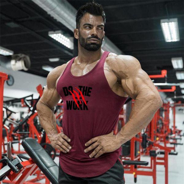 Nuovi uomini di estate che corrono le camice della maglia della maglietta di compressione della palestra maschio canottiera sportiva senza maniche delle magliette di Bodybuilding di sport
