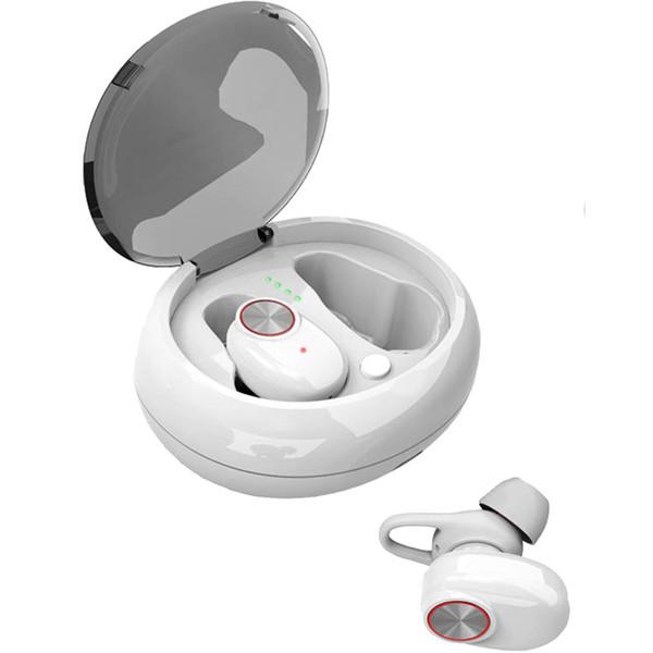 V5 TWS Dual-Kopfhörer Bluetooth 5.0 Headset Drahtloser Ohrhörer mit Stereo-Musikfreisprecheinrichtung QI-Enabled mit Ladebox TWS