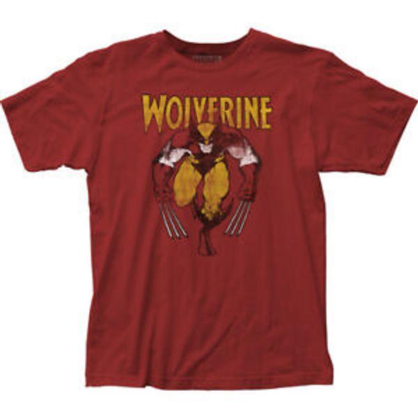 Wolverine sur le T-shirt ajusté rouge