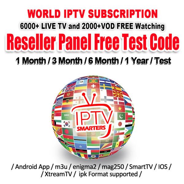 iptv-Konto für Android TV Box 4K mit Abonnement iptv 30+ Länder 6000 + Live-TV-Kanäle IPTV-Abonnement Frankreich Portugal Arabisch Großbritannien