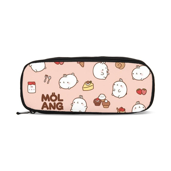 Purses For Boys Girls Pen Bag Cute Cartoon Bunny Molang 3D Printing Pen Case Student Children School Supply Pencil Pouch Box