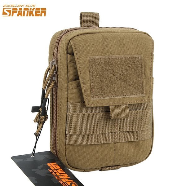 EXCELLENT ELITE SPANKER Tactical Army Green Nylon EDC Bags Molle Multifunction Double Zipper Waist Bag Hunting Tool Small Pouch #123187