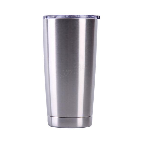 Bicchiere da 20 once sottile con coperchi Bottiglia di acqua isolata sottovuoto in acciaio inossidabile Tazza da caffè Tazze da sport all'aperto LJA3077