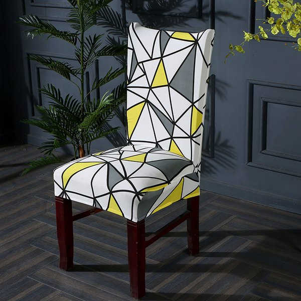 Geometry Spandex Chair Cover Stretch kitchen chair covers stretch furniture covers housse chaise towel 1/2/4/6 pcs
