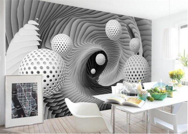 Sob encomenda da foto papel de parede mural papel de parede 3d 3d bola espaço redemoinho moderno tv fundo parede papel de parede