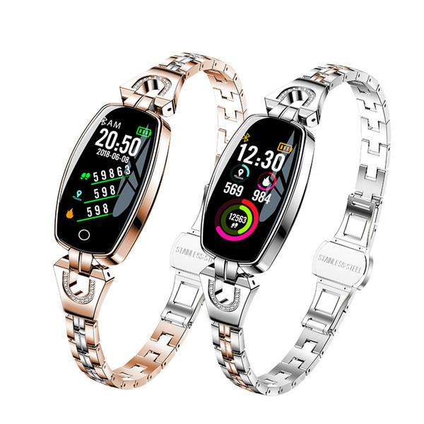 H8 Montre Smart Watch Femmes Sport Fitness Étanche Surveillance De La Fréquence Cardiaque Bluetooth Pour Android IOS Bracelet De Remise En Forme Smartwatch