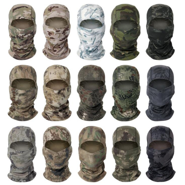 best selling Hot Sell CS Camouflage Mask Hood Bicycle Cycling Mask Windproof Dust Head Sets Camouflage Tactical Mask