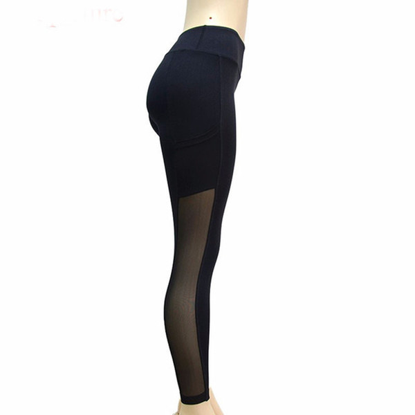 High New Waist Slim Leggings For Women Dancing Wear Plus Size Mesh Patchwork Footless With Small Pocket Pants Gotico Woman