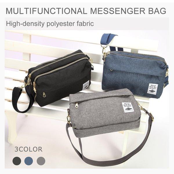 Uniwalker coréen style multifonctions Sac Messenger Sling Sac Muti-couche épaule Casual avec sangle pour femmes Cr Voyage