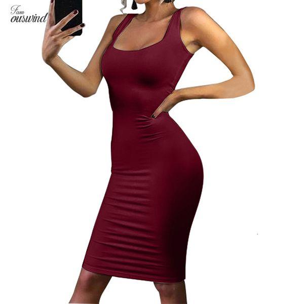 Stilisti Summer Dress Tank top da donna matita dimagriscono il vestito sexy Abiti da Vest guaina Vestito aderente