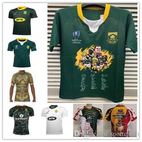 2020 챔피언 남아프리카 공화국 재킷 재규어 월드컵 황소 럭비 저지 셔츠 우 측면에 베이 슨 BHOLI BOSHOFF JAGER FORTUIN GELANT GQOBOKA
