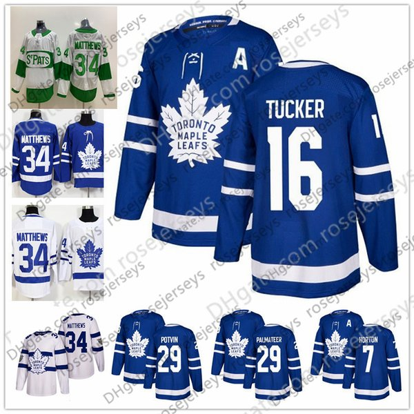 Toronto maple leaf 16 darcy tucker 7 lanny mcdonald 22 tiger william 29 mike palmateer blue white t pat retired player hockey jer ey, Black;red