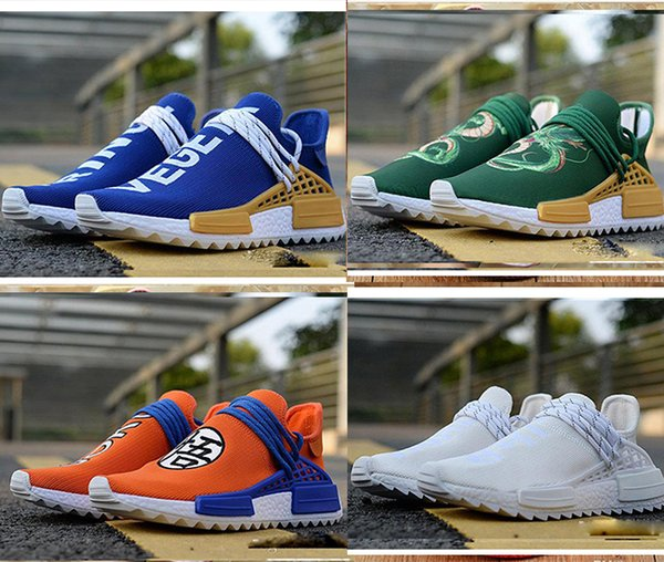 best selling HOT human race Pharrell Williams Hu Trail mens designer shoes sports sneaker Holi Canvas SPORT athletic women running Shoes size 36-45