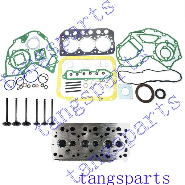 best selling New S3L Cylinder head & valves & engine gasket kit For Mitsubishi engine fit mahindra 2015 tractor engine