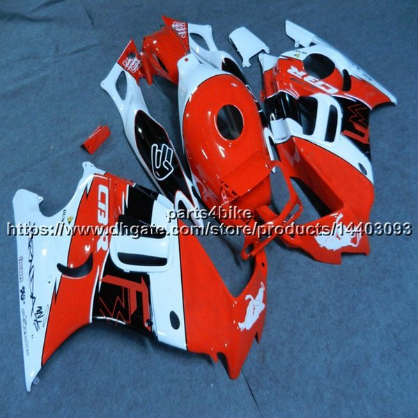 Personalizado + Parafusos ABS vermelho branco moto Fairing casco Para Honda CBR600F3 1997-1998 CBR600 F3 97 98 CBR 600F3 motocicleta capota