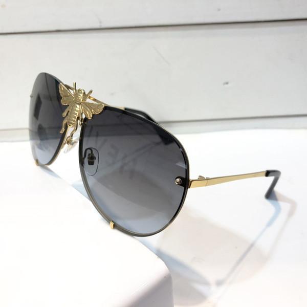 Gucci GG2238 Bayanlar taşlar kare Güneş Gözlüğü siyah çerçeve gri duman lensler Moda tasarımcısı marka Güneş Gözlüğü durumda ile Yeni