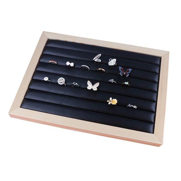 Bois de Bambou Bijoux affichage Plateau Bague Porte Bijoux Colliers Organisateur Bracelets Showcase Box Pendentifs