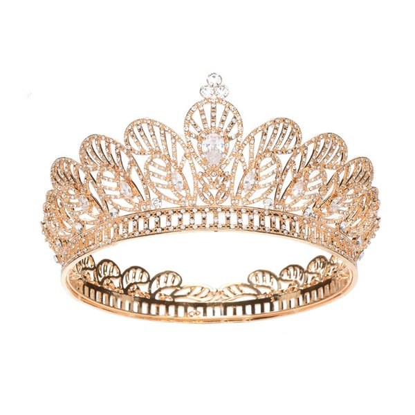 2019 Women Rhinestone Zircon Queen Bride Crown and Tiaras Bridal Diadem Wedding Party Headpiece Hair Jewelry Ornaments