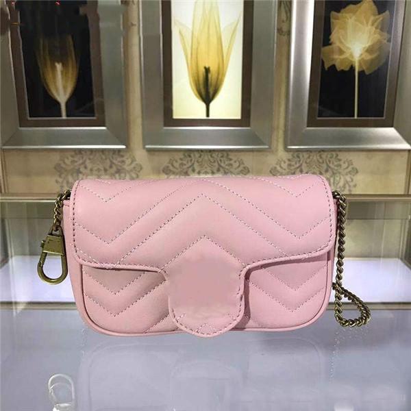 top popular Wholesale Brand Square Bag Trend Leather Retro Peach Heart Fashion Plaid Striped Shoulder Bags Chain Bag Sheepskin Messenger Bag 2019