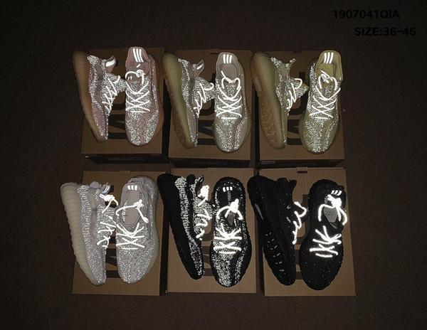 2019 New 350 Men Women Running Shoes Static Black Bred Cream White Sesame Kanye West V2 Sports Sneakersyeezy350 S2