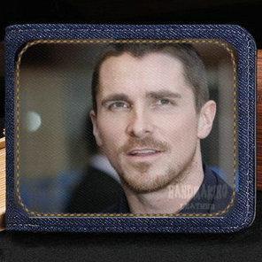 Christian Bale wallet Hot star purse Nice actor short cash note case Money notecase Leather jean burse bag Card holders