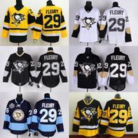 2016 Pittsburgh Hóquei no Gelo Jerseys 29 Andre Fleury Jersey Men Início Terceiro alternativo azul branco costurado Qualidade
