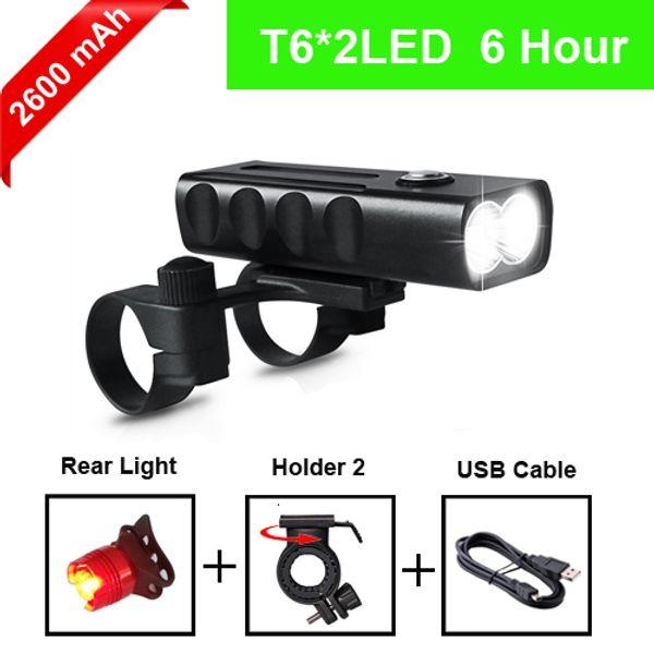 T6 2600mAh taillight