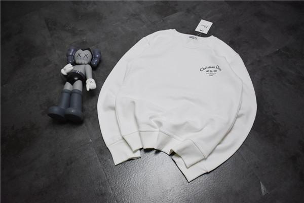 19FW de lujo Marcas Diseño D Carta de manga larga con capucha suéter de cuello redondo camiseta de la moda Detrás Logos suéter con capucha al aire libre