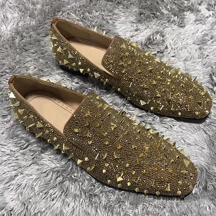 2019 Elegante Designer Wedding Party Dress picchi di rosso fannulloni inferiori Scarpe Uomo Mocassino Shiny business casual Oxford Walking Shoes 38-46R04