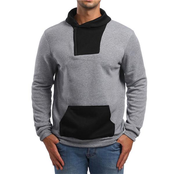 2019 Hoodie Sweatshirt Brand Men Casual Patchwork Slim Fit Hoodie Outwear Hip Hop Hood Sweatshirts for Male Clothing