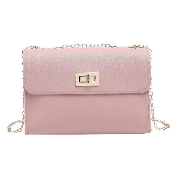 New chain small square bag PU leather Korean version of the shoulder slung packet tide gift