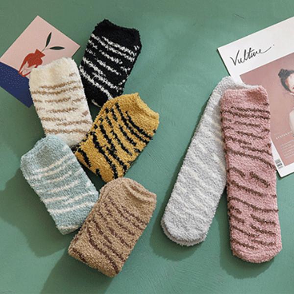 Sıcak Satış Womens Kalın Rahat Yumuşak Bulanık Rahat Kış Peluş Çorap Sıcak kabarık çorap 7 Renkler Moda Leopar Çorap 201910 M744F tutun