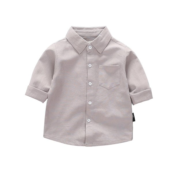 Kids Children White Girls Shirts for School 2019 New Full Sleeve O-neck Girl Blouses Solid Tops Teenager Clothing Clothes Bs085