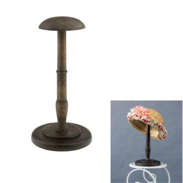 vintage wooden hat holder wig holder display stand display stand - from $23.58