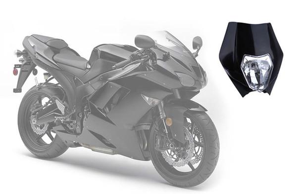 Moto Halogène Phare Indicateur Carénage Abat-jour pour Dirt Bike Moteur Grand Phare Profitez De Course À Travers L'obscurité Livraison Gratuite