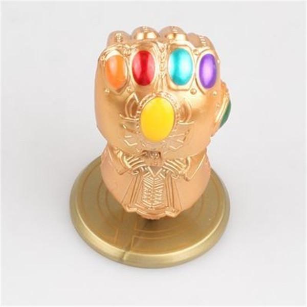 Avengers Thanos Glove Doll Pvc Mini Shaking Head Modelo Fit Car Interior Figuras de juguete para niños 8.5cm 15mg E1